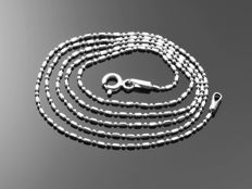 """18k Gold Necklace. Chain """"Bar & Bead"""" - 50 cm"""
