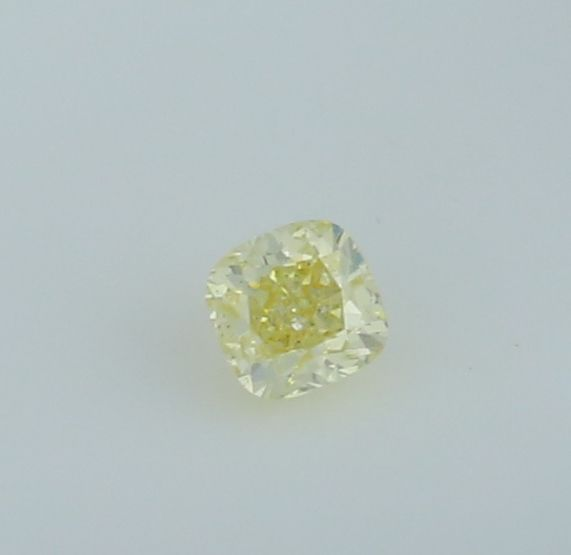 0.48 ct. Square Cushion Modified Brilliant Natural Diamond -  Fancy light yellow - I 1