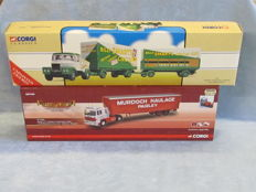 Corgi - Scale 1/50 - Lot with 2 x lorries: Scammell Billy Smarts Circus and Scania Murdoch Haulage