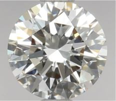 Round Brilliant Diamond 0.51 Carat , F IF  3EX,   Cert: GIA  #2321 -original image