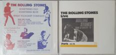 Rolling Stones - lot of 2 LPs: 1. Tour D' Europe 76 (Paris 6-6-76) (No label, no #) EU LP | 2. Something Old Something Blue (Tallow DOS TCP 818) ) 1982 USA live | unofficial Fanclub albums
