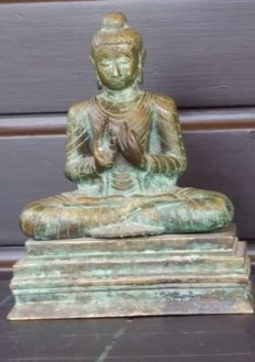 Bronze Buddha Dharma Mudra - Nepal/China - late 20th century