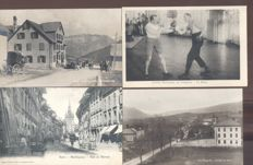 Austria-Switzerland 132x; old and very old village and city views including lithographs
