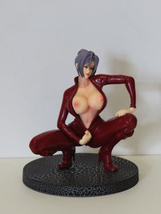 Manga art;  Meiko Shiraki - Sexy school teacher Figure in a red Catsuit - 2016