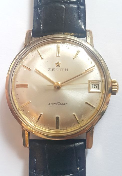 Vintage wrist watch Zenith AutoSport - Switserland around 1964