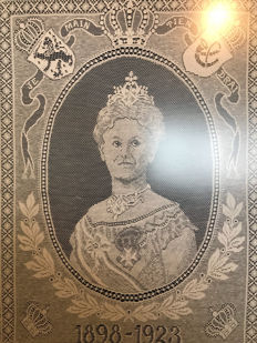 Commemorative Lace of Queen Wilhelmina - on the occasion of 25 year Jubilee - 1923