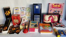 Fun package; Lot with 12 erotic games etc., including other items for adults - 21st century