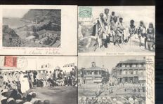 Africa, 111 x, old and very old city and village views with photo cards and booklet of Oran