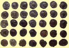 Gaul & Roman Empire - Large Collection of 35 Antoniniani of  Tetricus 1er  - 270 AD - Different busts and reverses