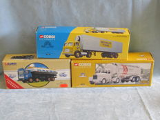 Corgi - Scale 1/50 - Lot with  3 x models: AEC Tanker, Leyland Beaver and Scammell Highwayman