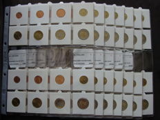 Finland - Year series 1999/2012 (14 different sets) in coin sheets