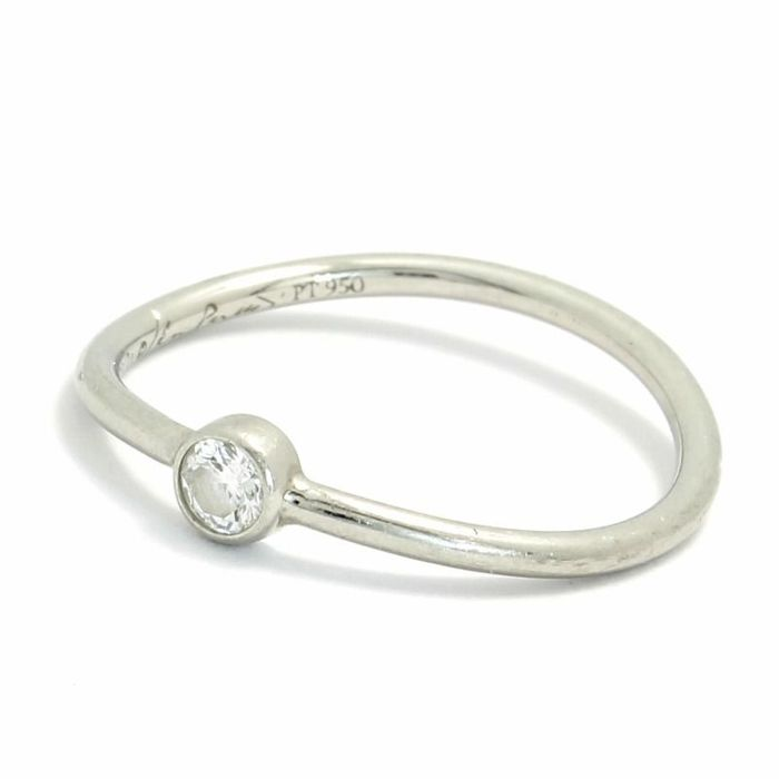 Tiffany & Co 950 Platinum Solitaire Diamond Engagement Ring