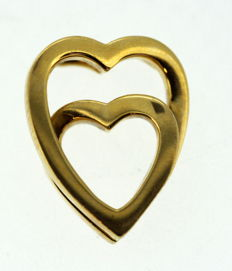 Cartier - Heart 18K Yellow Gold Pendant, 2001 - Size : 1.8 x 1.4 x 0.6 cm