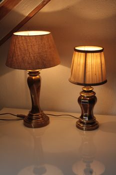 Classic brass table lamps