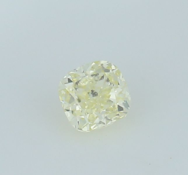 0.45 ct. Square Cushion Modified Brilliant Natural Diamond -  Fancy light yellow - I 1