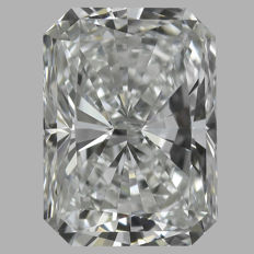 0.51 Carat  Radiant  Brilliant cut Diamond,  E IF  GIA, Serial# - 2320