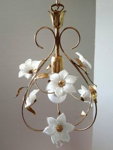 Venice. Art Nouveau style chandelier.