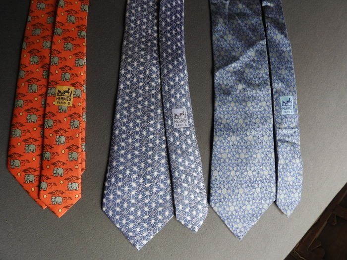 Hermès - Three ties - Good condition