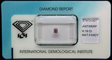 0.19ct Certified Fancy INTENSE Purplish Pink Diamond  - NO RESERVE