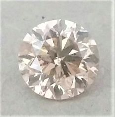 1.00 ct , Natural Fancy Champagne Diamond  , SI1 Clarity , IGL certificate+ Laser inscription.