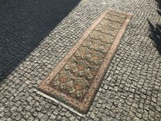 Hand made Orient Rug with signautre in wool  310x75cm