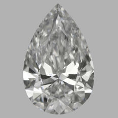 0.50 Carat Pear Brilliant cut Diamond, E IF   GIA, Serial# - 2313