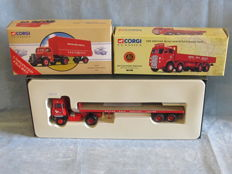Corgi - Scale 1/50 - Lot with 3 x lorries in British Road Services livery: Scammell Crusader, Bedford and ERF