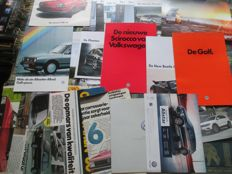 Car brochures (VW, various countries/years/models, 20x)
