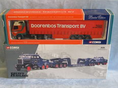 Corgi - Scale 1/50 - Scammell Contractor with a trailers 'Pickfords' & Volvo FH12 Curtainsider 'Doorenbos TRansport BV'