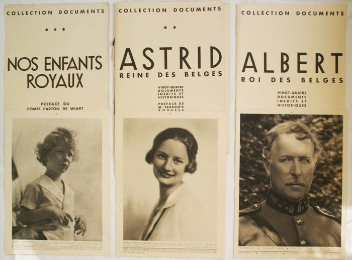3 x 24 posters in a binder 'Collections Documents' - l'Art Belge - Belgian Royal Family 1933 - 1935 - 1936