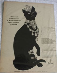 Rolex Advertising - 1963 - Original - Black Cat
