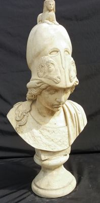 Minerva goddess - marble dust sculpture - France - 20th century