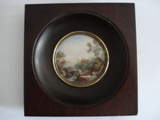 Antique miniature painting on ivory - 18th/19th century