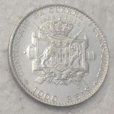 Portugal Monarchy – D. Manuel II – 1.000 Réis 1910 – Centenary of the Peninsular War – Silver