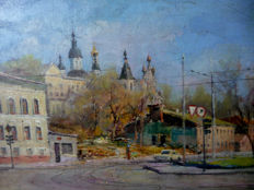 Unknown  (20th century) - View of a russian town