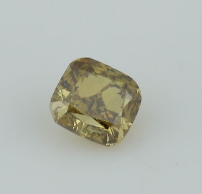 0.45 ct. Cushion Modified Brilliant Natural Diamond -  Fancy Brownish yellow - I 1