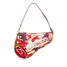 Dior - Graphic Canvas Mini Saddle