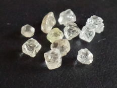 Lot of natural rough diamonds - 2.95 ct (10)