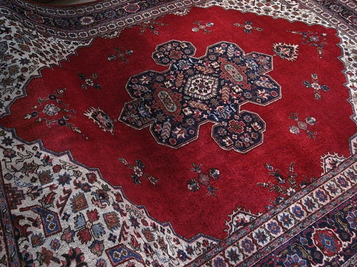 Old  -40 years PAKISTAN TABRIZ hand knotted 356x255cm seal
