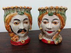 Moor heads - ceramic vases of Caltagirone (Sicily)