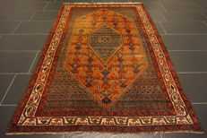 Old, high-quality Persian carpet - genuine Malayer - made in Iran - 130 x 200 cm - cleaned