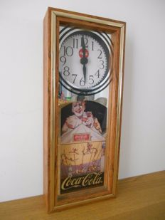 Wooden Coca-Cola clock from 1994