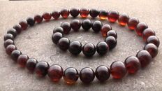 Brand new Bracelet and necklace: made from Indonesian cherry colour Amber, 148 gram total - ***No reserve price***