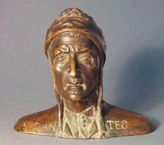 Bust of Dante - bronze - circa 1930
