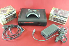 Microsoft xbox 360 120 GB with 15 games eg Gears of War 2, Mass Effect 2, Halo Reach and more