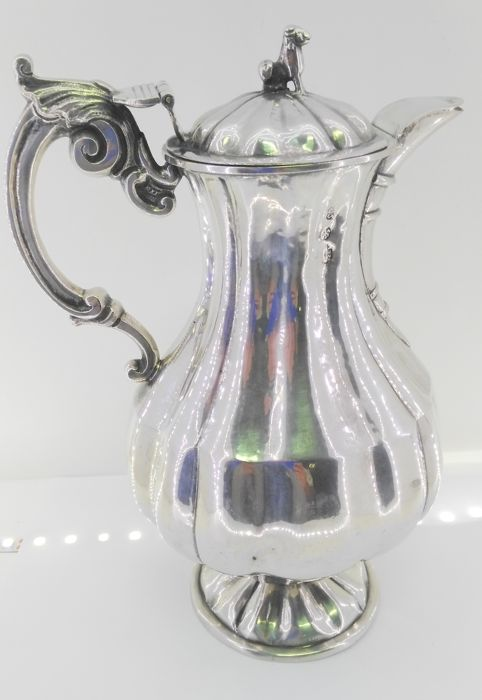 Coffee / tea container in silver with hallmark - possibly Córdoba - Spain - 19th century