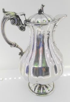 Coffee pot in hallmarked silver - possibly Córdoba - Spain - 19th century