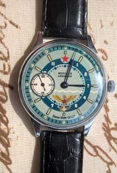 Molnja marriage men's watch - marine aviation - 1962