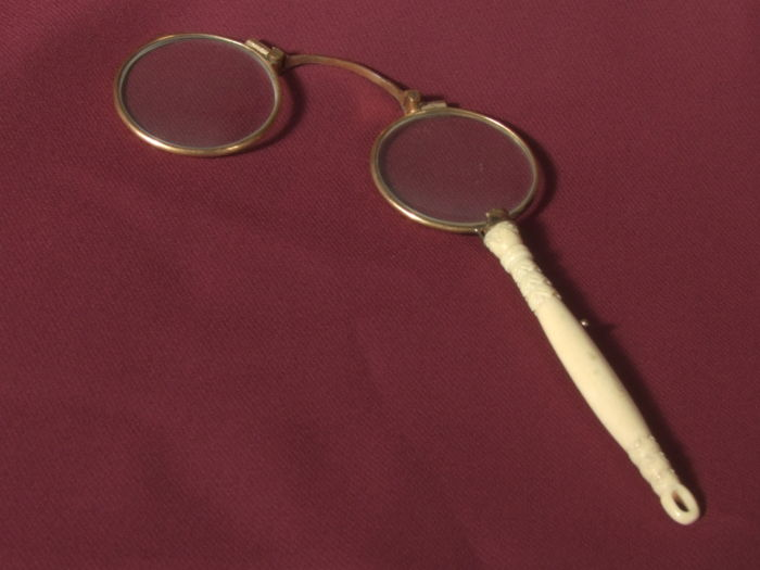 Gold Plated Pince Nez With An Hand Carved Handle In Warthog Catawiki