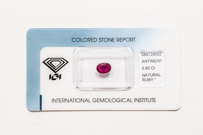 Ruby - 0.82 ct  *** No reserve ***